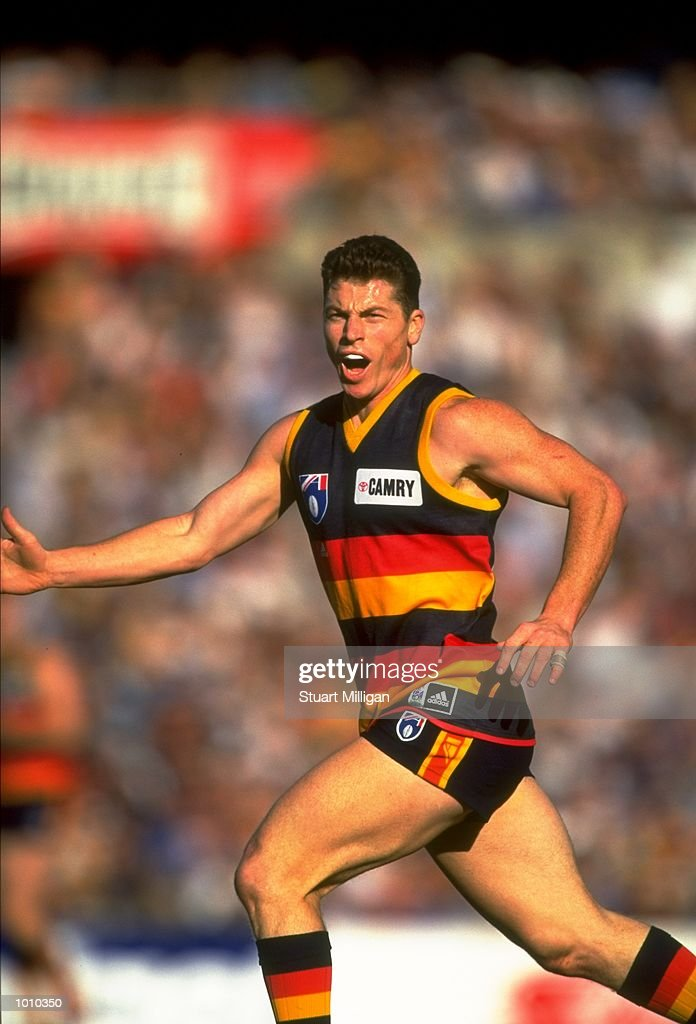 Mark Bickley of the Adelaide Crows in action during the AFL Premiership Round 5 match against the Sydney Swans at Football Park, Adelaide, Australia. The Anzac Day game finished with the Adelaide Crows (155) defeating the Sydney Swans (74).\ Mandatory Credit: Stuart Milligan /Allsport