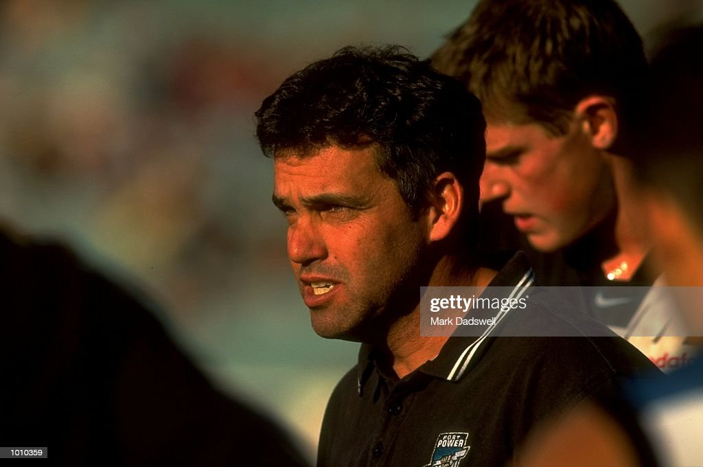 Portrait of Mark Williams the Coach of Port Adelaide during the AFL Premiership Round 5 match against the Melbourne Demons at the MCG, Melbourne, Australia. The game finished with the Melbourne Demons (90) defeating Port Adelaide (66). \ Mandatory Credit: Mark Dadswell /Allsport