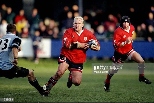 Scott Quinnell of Llanelli in action during the SWALEC Cup semifinal between Llanelli and Cardiff played at Bridgend Wales Llanelli won the match...