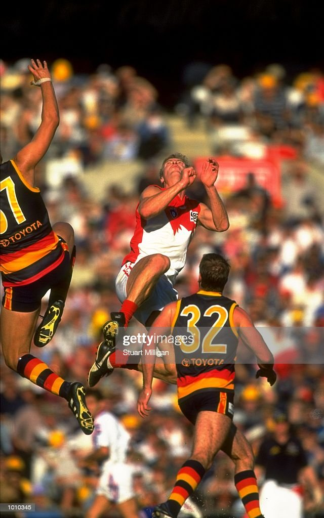 Troy Luff of the Sydney Swans in action during the AFL Premiership Round 5 match against the Adelaide Crows at Football Park, Adelaide, Australia. The Anzac Day game finished with the Adelaide Crows (155) defeating the Sydney Swans (74). \ Mandatory Credit: Stuart Milligan /Allsport