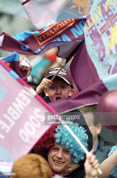 Aston Villa Fans during the AXA Sponsored FA Cup Semi Final between Aston Villa and Bolton Wanderers at Wembley in London The game finished 00 Aston...