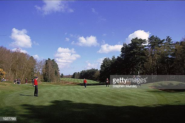 David Howell of England and Great Britain and Ireland with partner Colin Montgomerie of Scotland and Great Britain and Ireland against Sergio Garcia...
