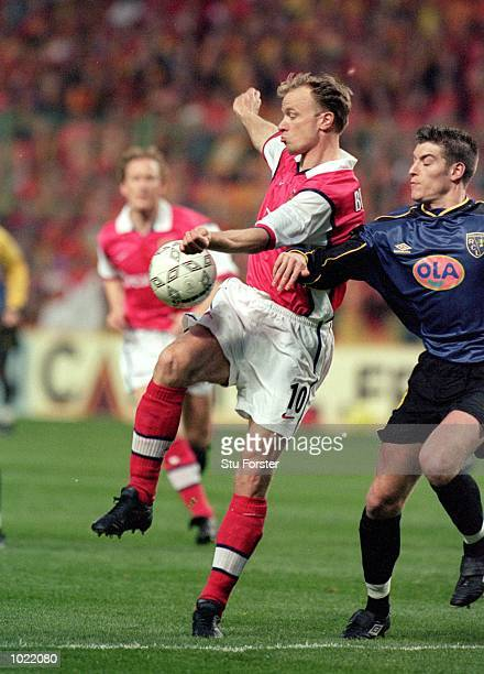 Dennis Bergkamp of Arsenal in action during the UEFA Cup Semi Final Second Leg game between Lens and Arsenal at the FelixBollaert Stadium in Lens...