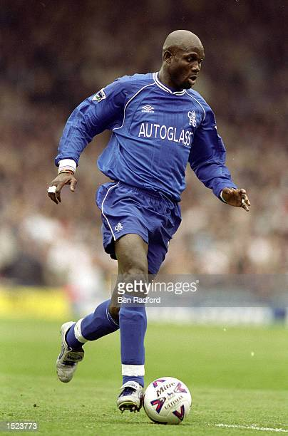 George Weah of Chelsea in action during the FA Carling Premiership match against Leeds United at Elland Road in Leeds England Chelsea won the match...