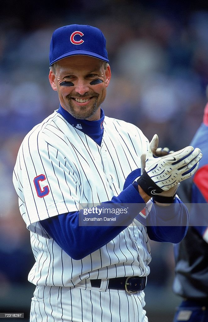 Mark Grace #17 of the Chicago Cubs smiles as he claps on the field before the game against the Atlanta Braves at Wrigley Field in Chicago, Illinois. The Cubs defeated the Braves 4-3. Mandatory Credit: Jonathan Daniel /Allsport