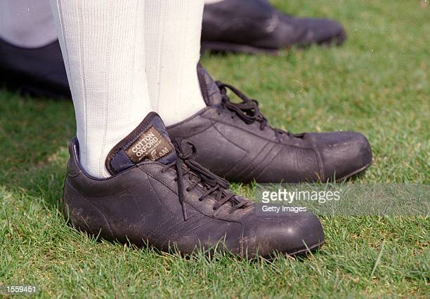 Old Style Football boots during the Town and Gown match between Cambridge University and Zion Eagles F at Parker's Piece Cambridge England Photo by...