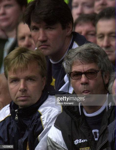 Ray Hardford Lars Tjernaas and Egil Olsen during the Tottenham Hotspur v Wimbledon FA Carling Premiership match at White Hart Lane Tottenham London...