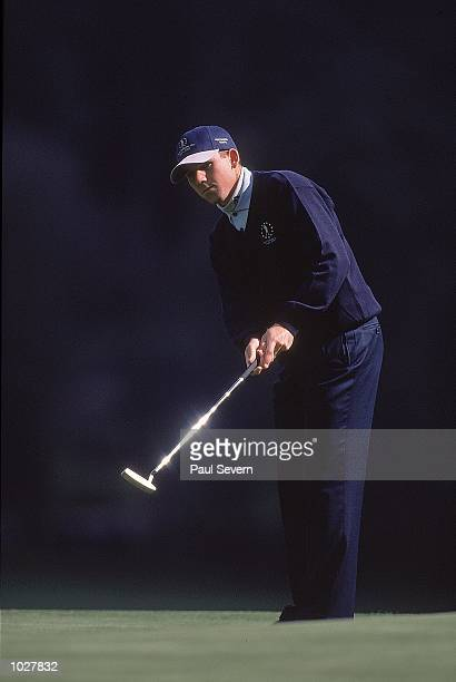 Sergio Garcia of Spain and Continental Europe during the inagural Eurobet Seve Ballesteros Trophy between Continental Europe v Great Britain and...