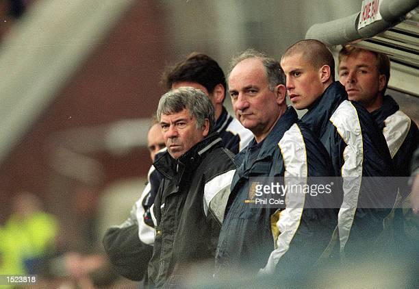 Wimbledon manager Egil Olsen watches on during the FA Carling Premiership match against Ray Parlour at Selhurst Park in London Arsenal won 31...