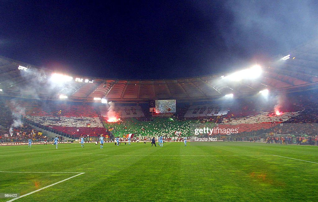 A general view during the Serie A 28th Round League match between Roma and Lazio played at the Olympic Stadium, Rome. Digital Image Mandatory Credit: Grazia Neri/ALLSPORT