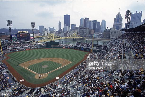 A general view of PNC Park in Pittsburgh Pennsylvania during the game between the New York Mets and the Pittsburgh PiratesMandatory Credit Jamie...