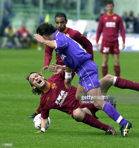 Francesco Totti of Roma in action during the Serie A 25th Round League match between Fiorentina and Roma played at the Comunale stadium Florence...