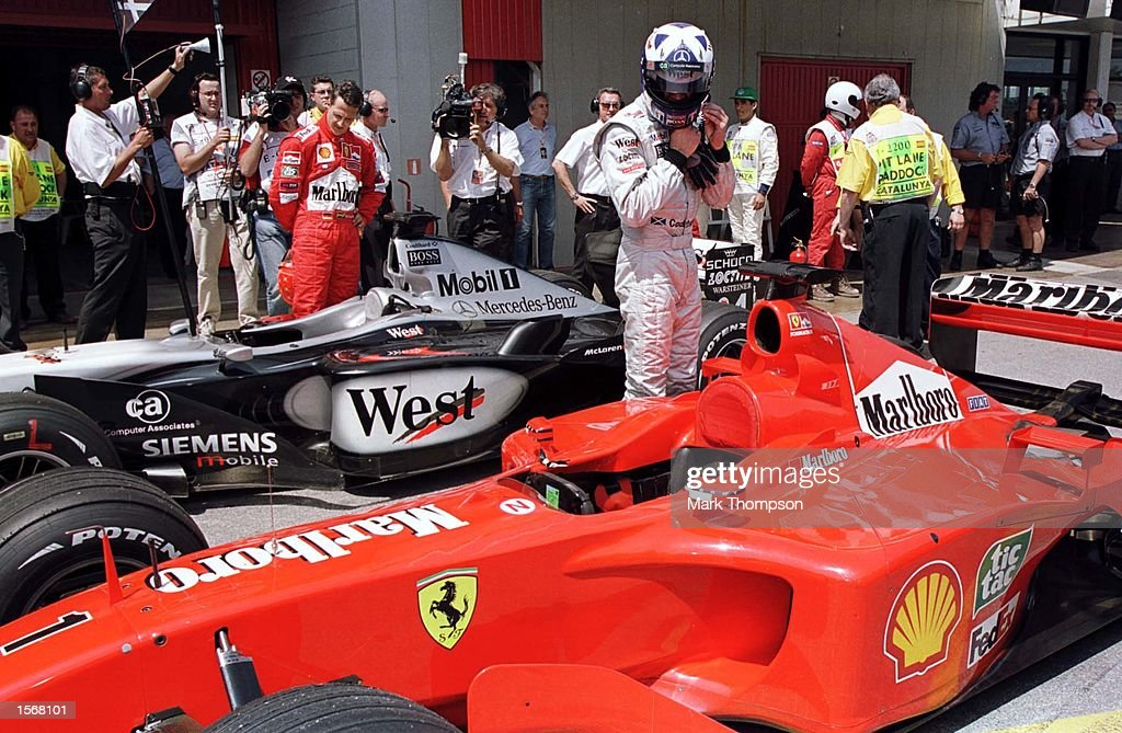 Ferrari Driver Michael Schumacher Looks Stock Photos &- Ferrari ...