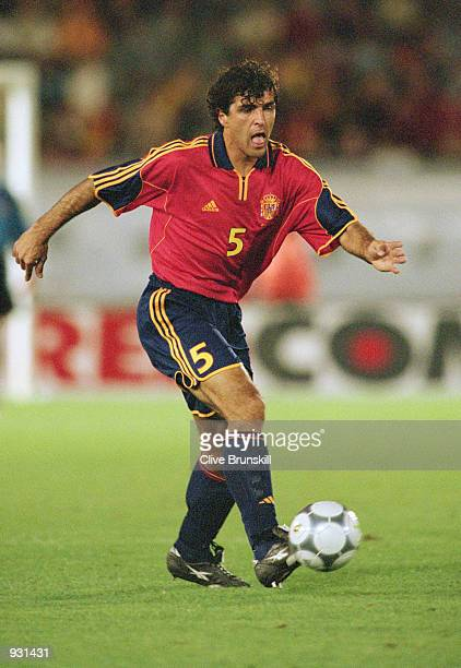 Nadal of Spain brings the ball out of defence during the International Friendly match against Japan played at the El Arcangel Stadium in Cordoba...