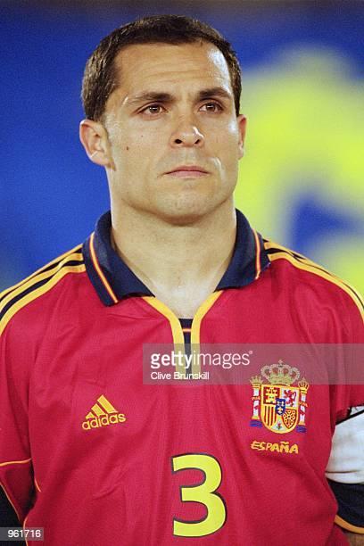 Portrait of Barjuan Sergi of Spain before the start of the International Friendly match against Japan played at the El Arcangel Stadium in Cordoba...