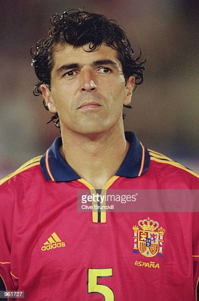 Portrait of Miguel Angel Nadal of Spain before the start of the International Friendly match against Japan played at the El Arcangel Stadium in...