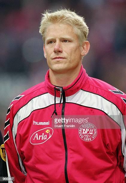 Portrait of Peter Schmeichel of Denmark before the International Friendly match against Slovenia played at the Parkenstadion in Copenhagen Denmark...