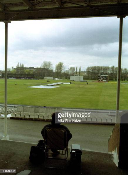 Rain delays the start of play in the CricInfo County Championship match between Derbyshire and Middlesex at The County Ground Derby Mandatory Credit...