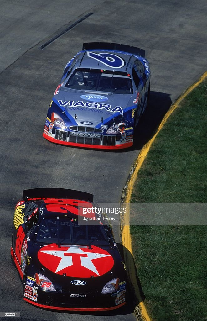 Ricky Rudd #28 who drives the Texaco Halvoline Ford Taurus for Robert Yates Racing comes around a corner during the Virginia 500, part of the NASCAR Winston Cup Series at the Martinsville Speedway in Martinsville, Virginia.Mandatory Credit: Jon Ferrey /Allsport