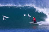 Rip Curl Pro Bells Beach Victoria Australia April 1999 Association of Surfing Professionals world champion Mark Occhilupo continued his winning form...