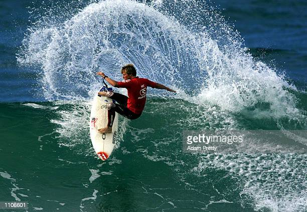 Taj Burrow of Australia in action during his first round heat during the Rip Curl Pro Surfing Contest Bells Beach Torquay Australia DIGITAL IMAGE...