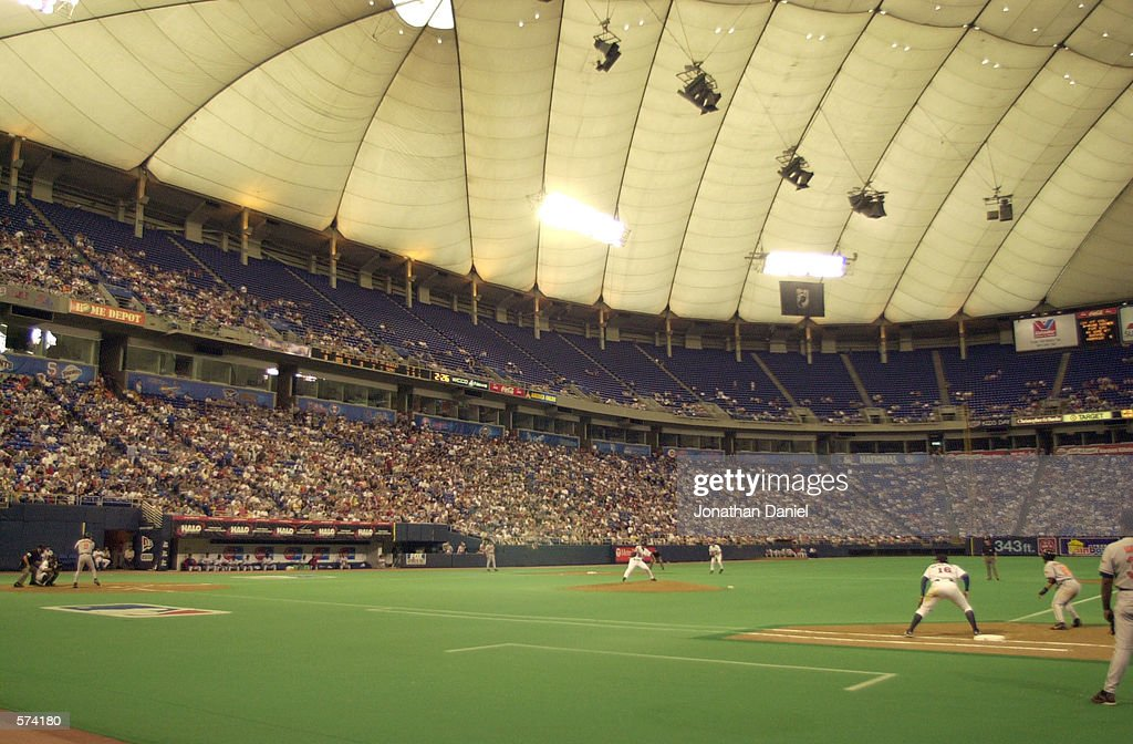 The Minnesota Twins take on the Baltimore Orioles at the Metrodome in Minneapolis, Minnesota. The Twins defeated the Orioles 4-0. DIGITAL IMAGE. Mandatory Credit: Jonathan Daniel/ALLSPORT