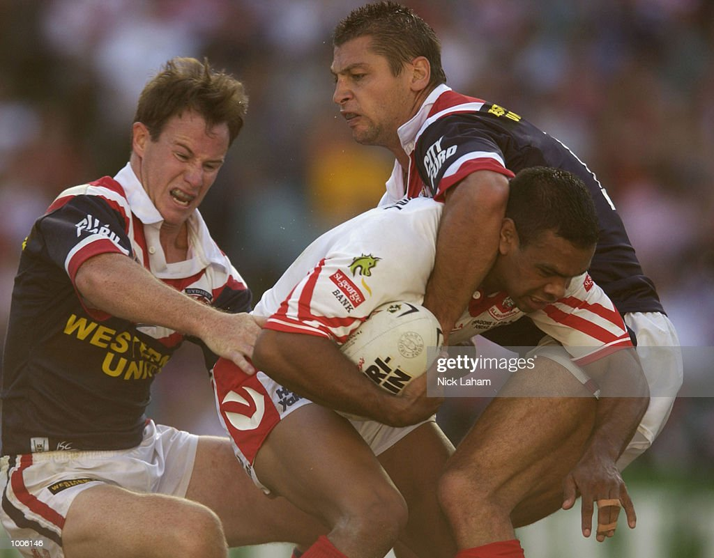 Amos Roberts of the Dragons in action during the NRL match between the St George Illawarra Dragons and the Sydney Roosters held at Aussie Stadium, Sydney, Australia. Mandatory Credit: Nick Laham/Getty Images