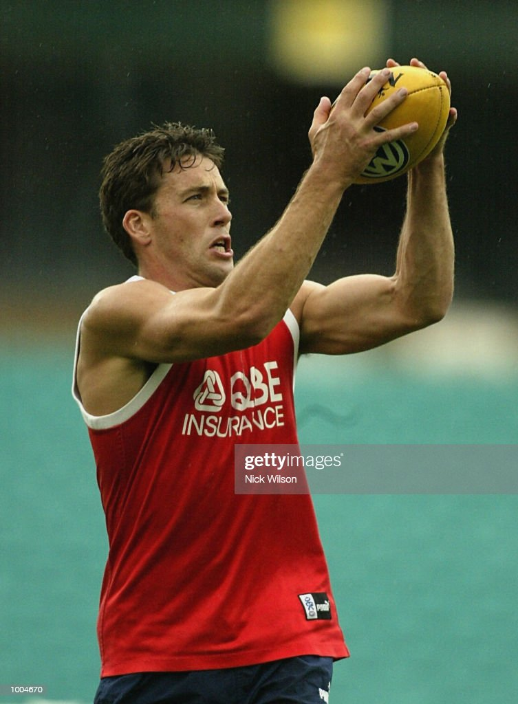 Andrew Dunkley of the Swans in action during the Sydney Swans Training session held today at the Sydney Cricket Ground, Sydney, Australia. DIGITAL IMAGE. Mandatory Credit: Nick Wilson/Getty Images