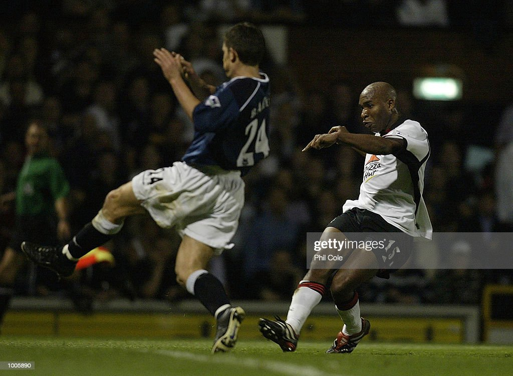 Barry Hayles of Fulham scores the 3rd goal during the FA Barclaycard Premiership match between Fulham and Bolton Wanderers at Craven Cottage, London. DIGITAL IMAGE Mandatory Credit: Phil Cole/Getty Images