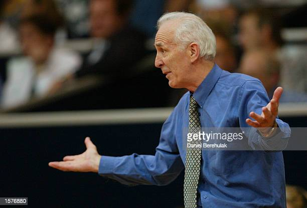 Coach of the Tigers Lindsay Gaze bewildered during the NBL Semifinal decider between the West Sydney Razorbacks v Melbourne Tigers played at the...