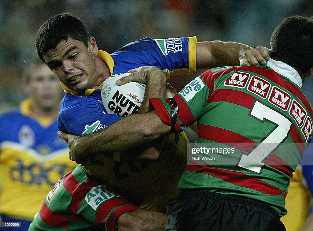 Daniel Wagon #13 of Parramatta in action during the Round 6 NRL Match between South Sydney and Parramatta being played at Aussie Stadium, Sydney, Australia. DIGITAL IMAGE Mandatory Credit: Nick Wilson/Getty Images