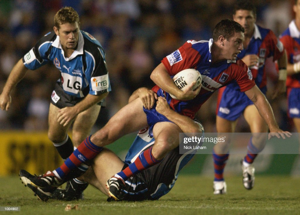 Danny Buderus #9 of the Knights in action during the NRL match between the Newcastle Knights and the Sharks held at Energy Australia Stadium, Newcastle, Australia. Mandatory Credit: Nick Laham/Getty Images