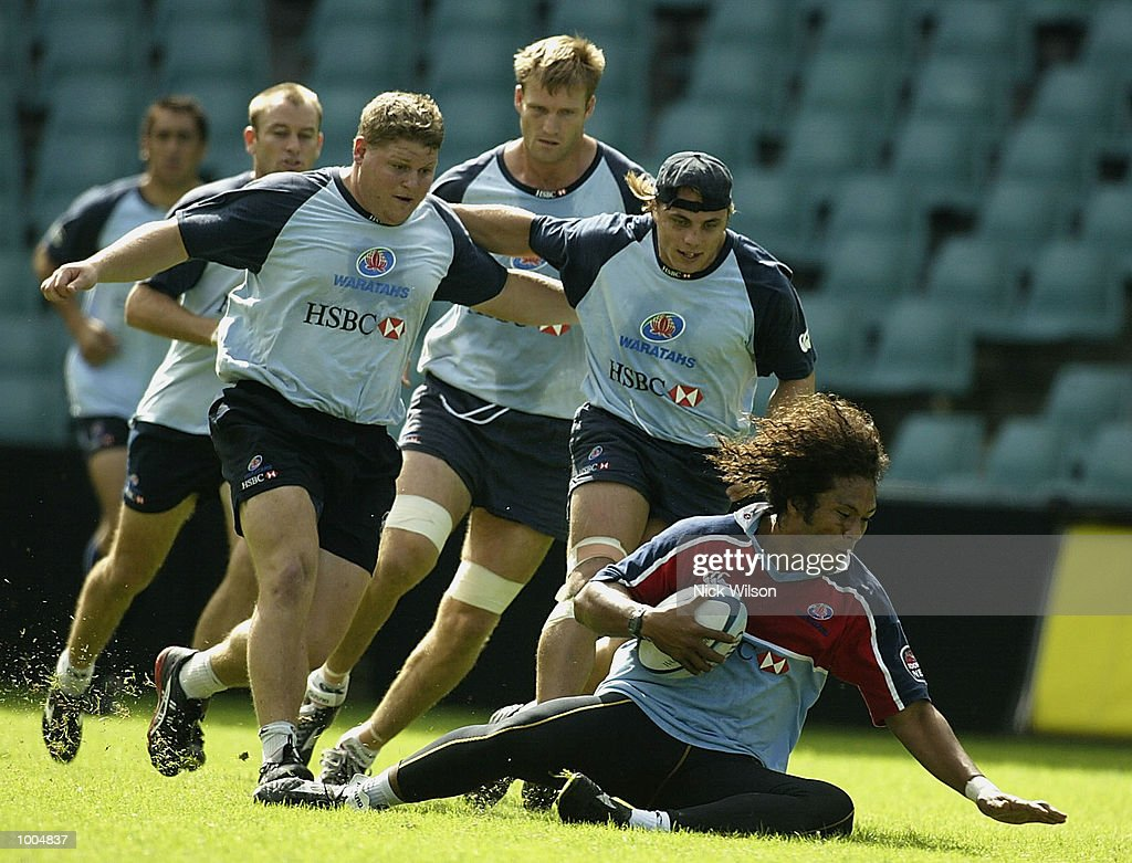 Des Tuiavii of the Waratahs in action during the Waratahs Training Session before their clash with the ACT Brumbies tomorrow night,at Aussie Stadium, Sydney, Australia Mandatory Credit: Nick Wilson/Getty Images