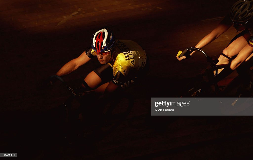 Edmund Hollands of Western Australia in action during the Mens 40k Points Race during the National Track Championships held at the Dunc Gray Velodrome, Sydney, Australia. Mandatory Credit: Nick Laham/Getty Images