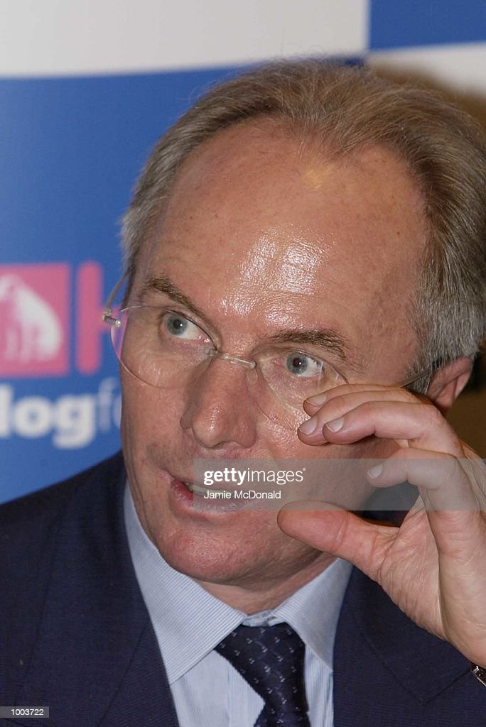 England manager Sven Goran Eriksson at the launch of his classical cd collection today at HMV Oxford Street, London . DIGITAL IMAGE. Mandatory Credit: Jamie McDonald/Getty Images