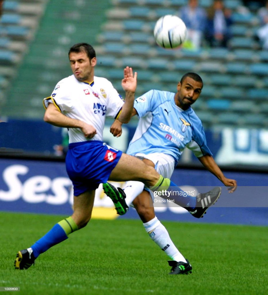 Fabio Liverani of Lazio in action during the Serie A match between Lazio and Verona, played at the Olympic Stadium, Rome. DIGITAL IMAGE Mandatory Credit: Grazia Neri/Getty Images