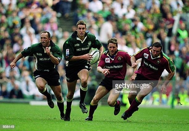 Geoff Appleford of London makes a break during the Powergen Cup Final against Northampton held at Twickenham Stadium Twickenham London London Irish...