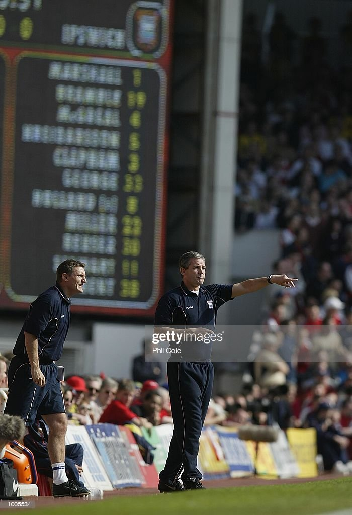 Ipswich Town manager George Burley during the FA Barclaycard Premiership match between Arsenal and Ipswich Town at Highbury, London. DIGITAL IMAGE Mandatory Credit: Phil Cole/Getty Images