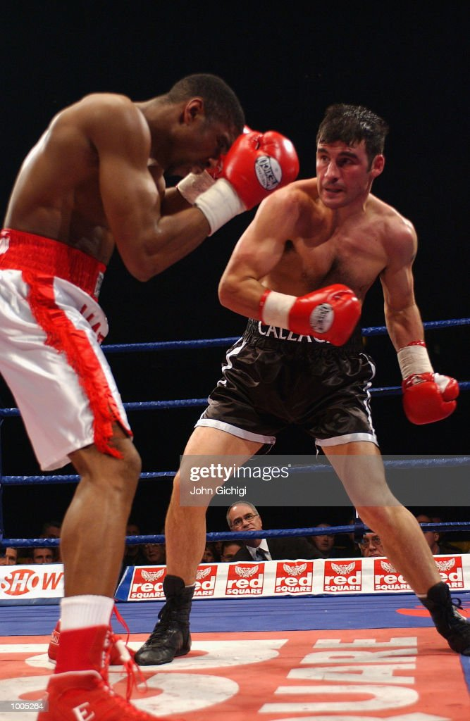Joe Calzaghe (Wales) beat Charles Brewer(USA) to retain his WBO title in Cardiff, Wales. DIGITAL IMAGE Mandatory Credit: John Gichigi/Getty Images