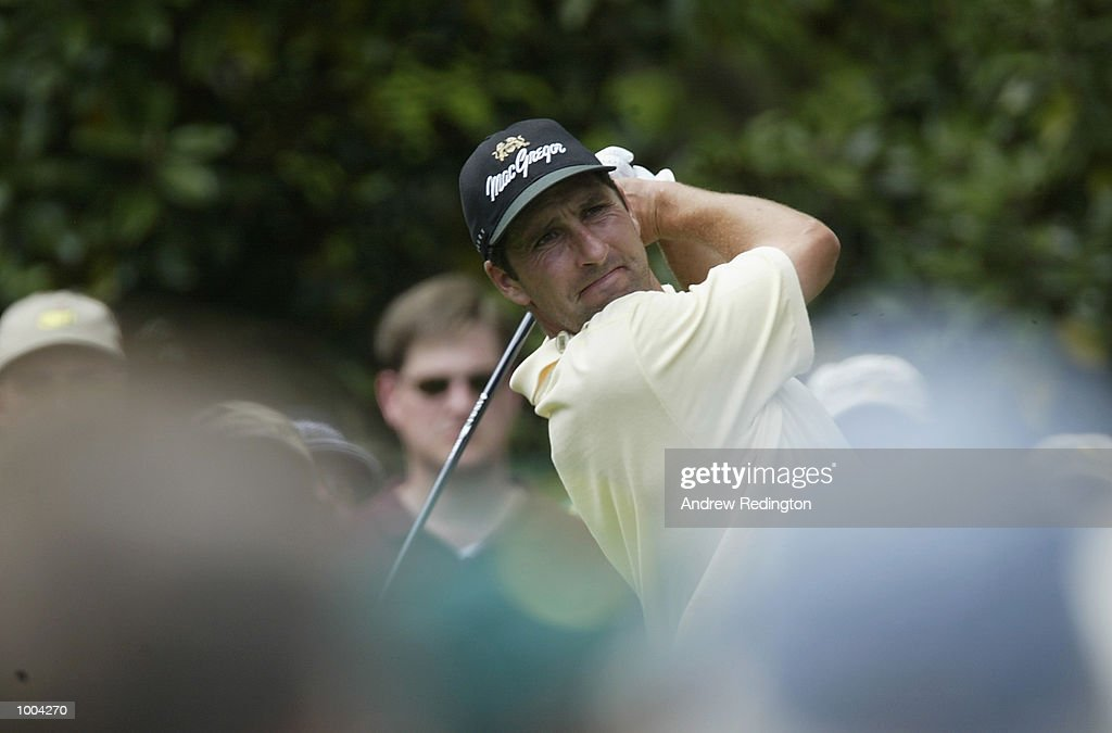 Jose Maria Olazabal of Spain plays his tee shot on the seventh hole during the third day of the Masters Tournament from the Augusta National Golf Club in Augusta, Georgia. DIGITAL IMAGE. EDITORIAL USE ONLY Mandatory Credit: Andrew Redington/Getty Images
