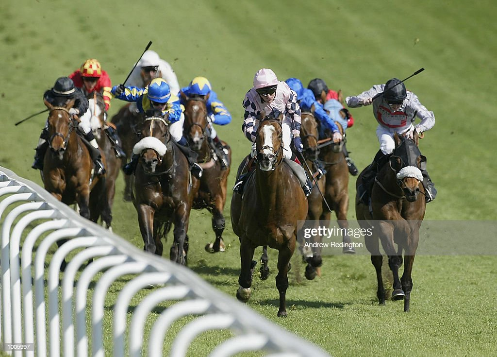 K. Fallon riding Seignosse comes home to land the Stanley Racing handicap stakes at Epsom Race Course, Surrey. DIGITAL IMAGE Mandatory Credit: Andrew Redington/Getty Images