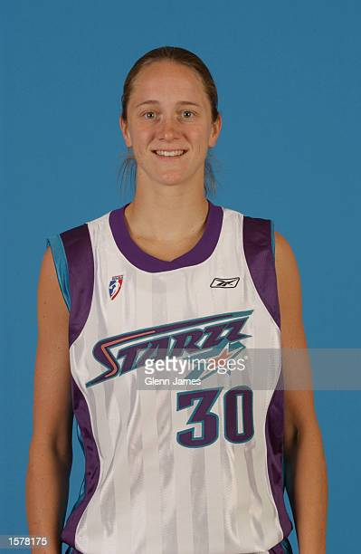 Kate Starbird of the Utah Starzz poses for a team headshot during the WNBA media day at the Delta Center in Salt Lake City Utah DIGITAL IMAGE NOTE TO...