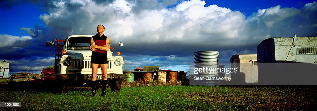 Kevin Murray former AFL Fitzroy player and Brownlow medalist stands proud at his property in Shepparton, VictoriaMandatory Credit: Sean Garnsworthy/Getty Images
