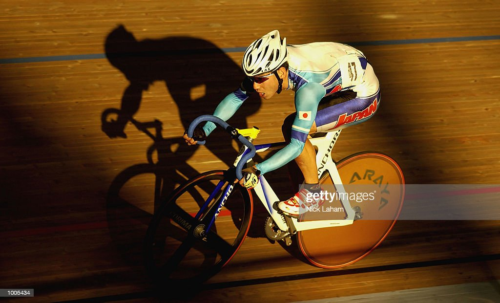 Koji Yoshii of Japan in action during the Mens 40k Points Race during the National Track Championships held at the Dunc Gray Velodrome, Sydney, Australia. Mandatory Credit: Nick Laham/Getty Images