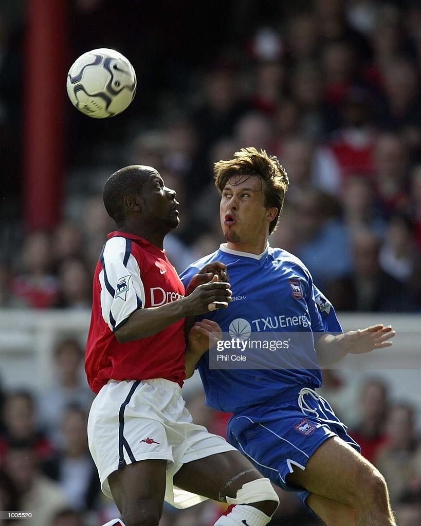 Lauren of Arsenal in action during the FA Barclaycard Premiership match between Arsenal and Ipswich Town at Highbury, London. DIGITAL IMAGE Mandatory Credit: Phil Cole/Getty Images