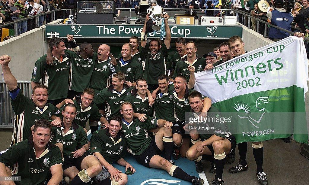 London Irish celebrates winning the Powergen Cup Final between Nothampton Saints and London Irish at Twickenham, London. DIGITAL IMAGE. Mandatory Credit: Dave Rogers/Getty Images