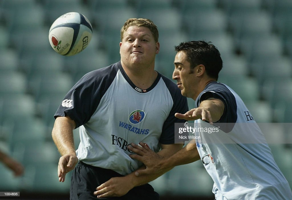 Matt Dunning of the Waratahs in action during the Waratahs Training Session before their clash with the ACT Brumbies tomorrow night,at Aussie Stadium, Sydney, Australia Mandatory Credit: Nick Wilson/Getty Images