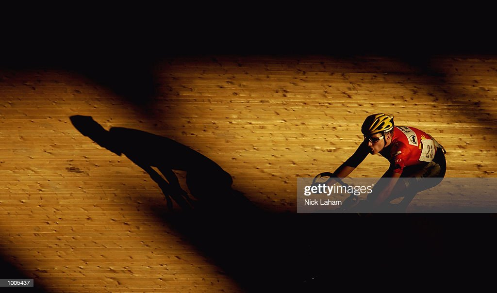 Michael Hardy of South Australia in action during the Mens 40k Points Race during the National Track Championships held at the Dunc Gray Velodrome, Sydney, Australia. Mandatory Credit: Nick Laham/Getty Images