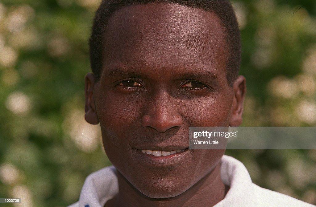 Paul Tergat of Kenya poses during a press conference for the Flora London Marathon held at Tower Bridge, London. Mandatory Credit: Warren Little/Getty Images