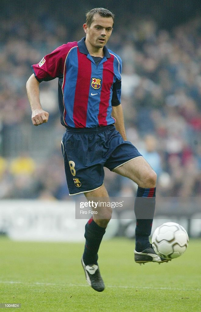 Philip Cocu of Barcelona in action during the Primera Liga match between Barcelona and Alaves, played at the Camp Nou Stadium, Barcelona. DIGITAL IMAGE. Mandatory Credit: Firo Foto/Getty Images